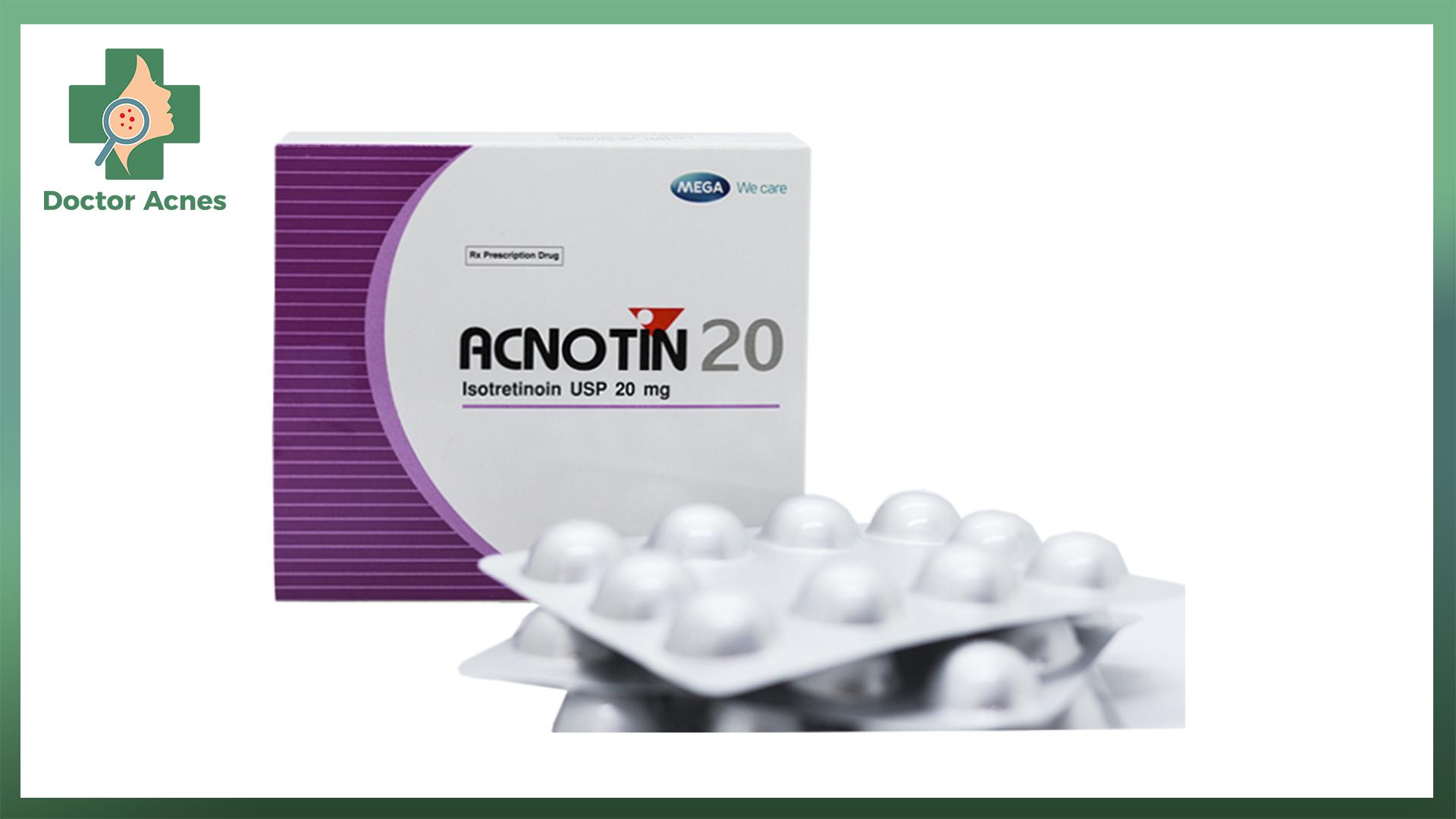 Thuốc trị mụn Acnotin 20 hộp 30 viên