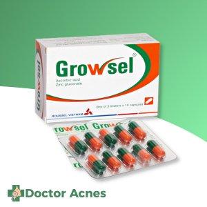 Thuốc bổ sung vitamin C, kẽm Growsel 30 viên