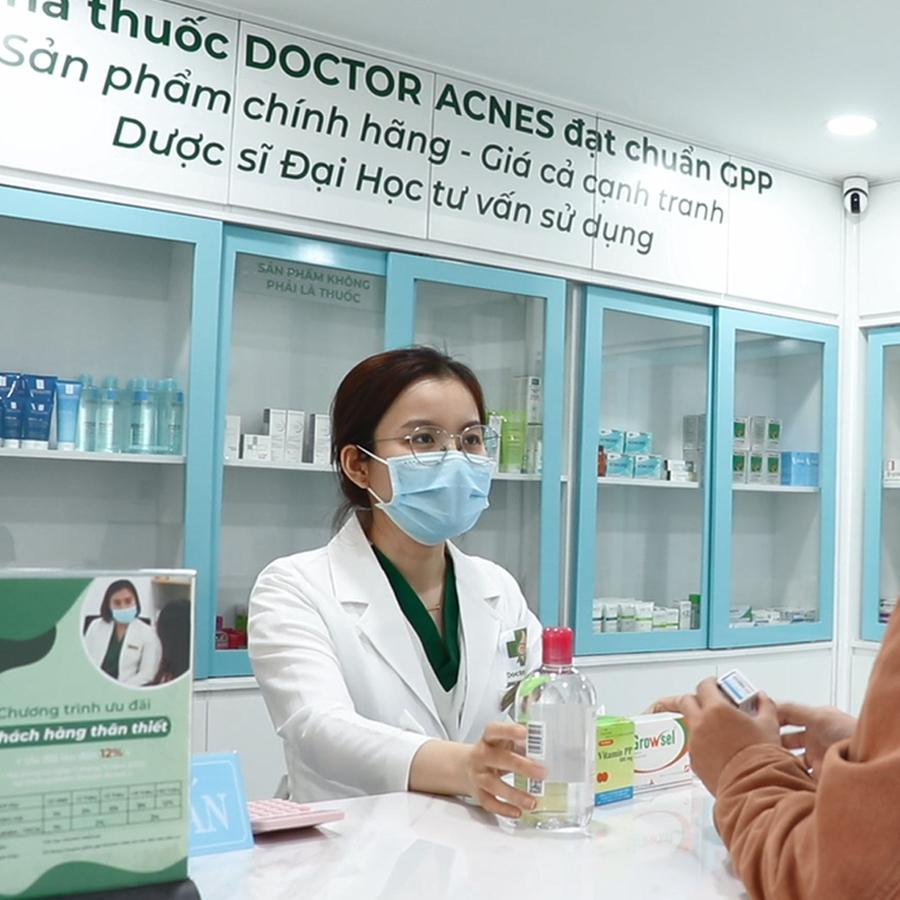 slogan nha thuoc phong kham doctor acnes