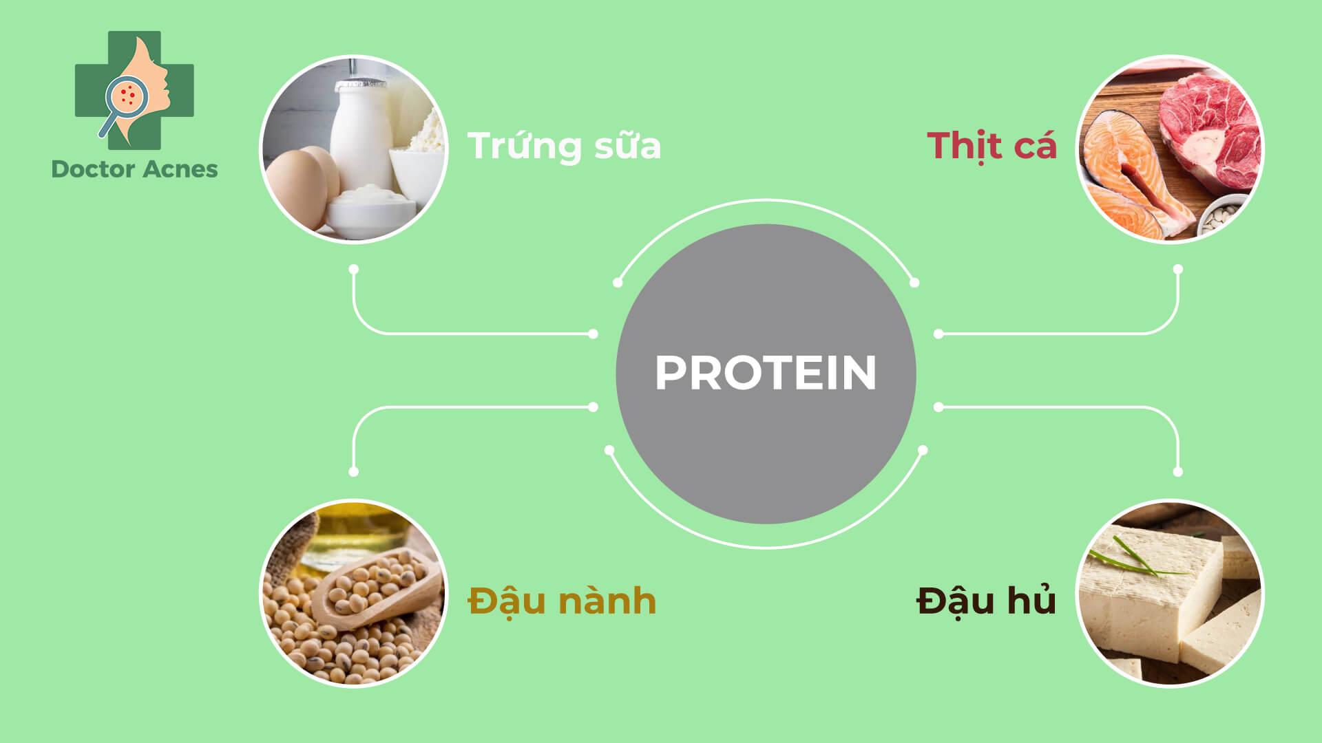 Protein trong chế độ ăn sau điều trị sẹo rỗ - Doctor Acnes