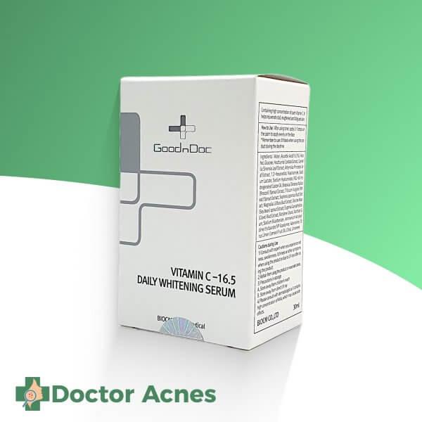 Serum Dưỡng Sáng Da Goodndoc Vitamin C 16.5 Daily Whitening Serum 30ml