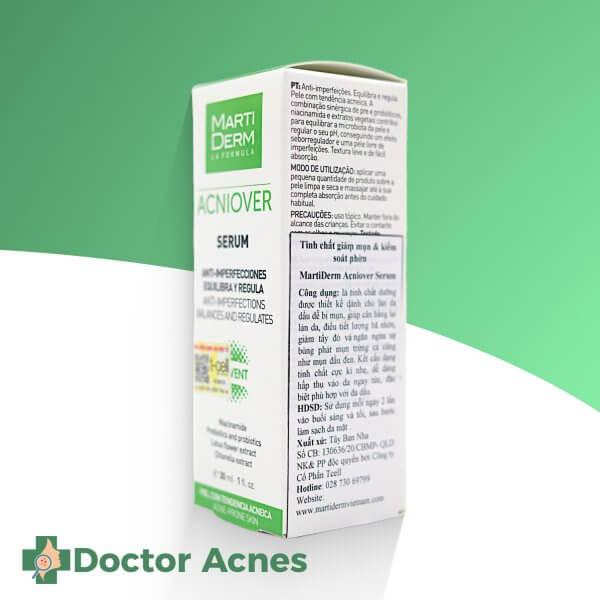 Tinh Chất Giảm Mụn Và Kiểm Soát Nhờn Martiderm Acniover Serum 30ml (2)
