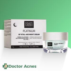 Kem dưỡng Retinol cao cấp giúp phục hồi, trẻ hóa da và hỗ trợ điều trị mụn - MartiDerm Platinum GF Vital Age Night Cream 50ml