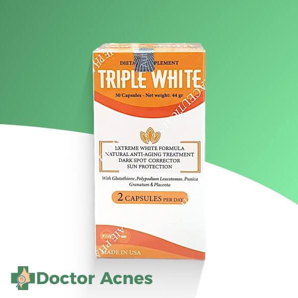 Triple White – Viên uống chống lão hóa làm trắng da, điều trị nám